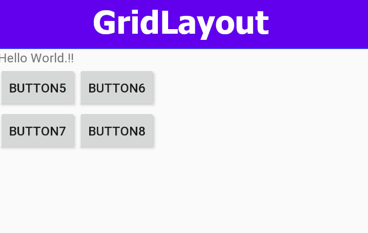 Android GridLayout Enequal Width Columns