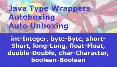 Java Primitive Type Wrappers, Autoboxing and Auto Unboxing